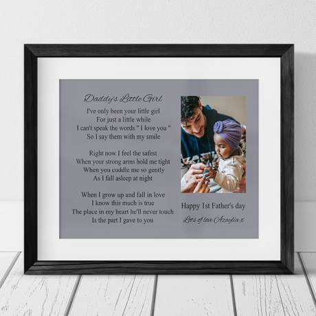 Daddy's little girl :  Photo Frame