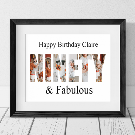 Ninety Birthday Personalised Photo Collage