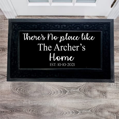 Personalised Doormat No place like home