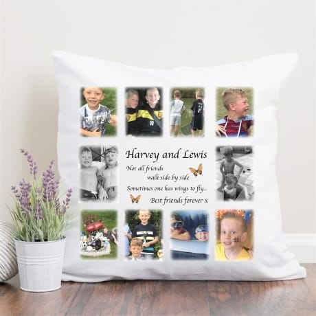 Personalised Photo Cushion, Not All Friends Walk Side By Side
