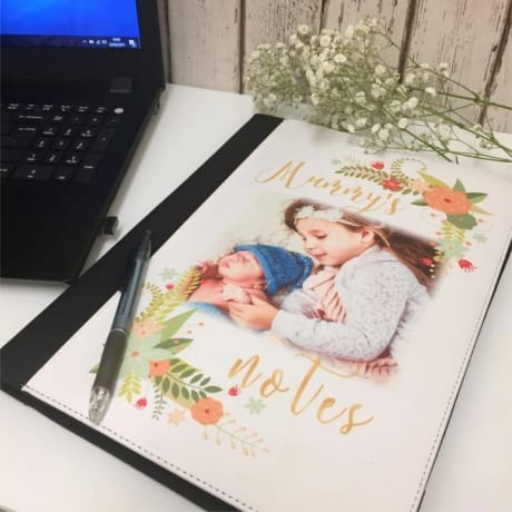 Personalised note book & holder
