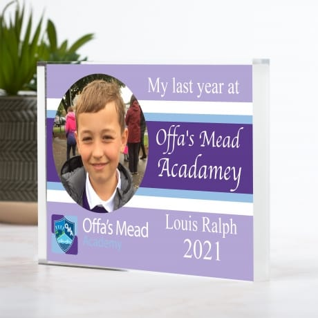 Personalised  Offa's Mead Leavers Photo Block