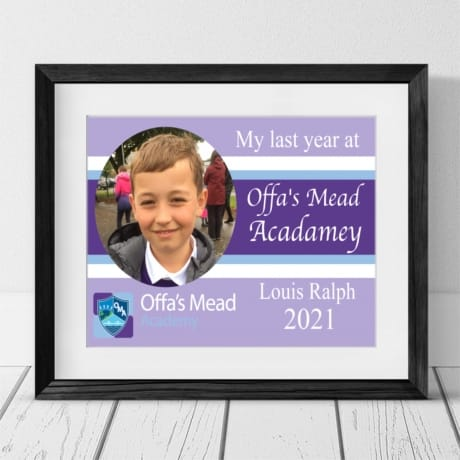 Personalised  Offa's Mead Leavers Photo Gift