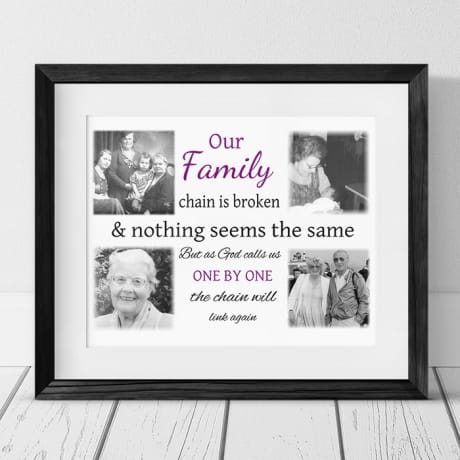 Personalised Remembrance Photo Gift - Our Family Chain
