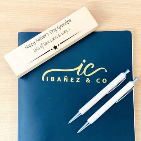 Personalised Wooden Stationary Set 2