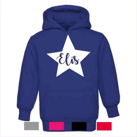 Personalised star name hoodie
