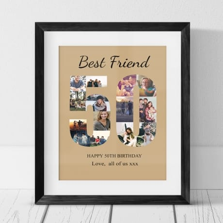 50 Birthday Photo Collage- Friend