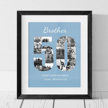 50 Birthday Photo Collage- Brother