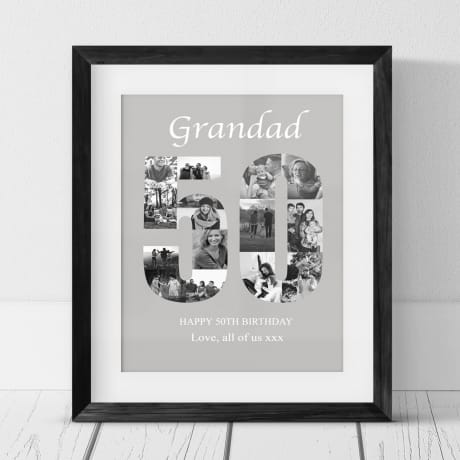 50 Birthday Photo Collage- Grandad