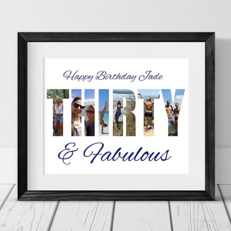 Thirty Birthday Personalised Photo Collage