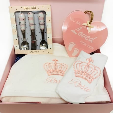 Baby girl gift set - personalised