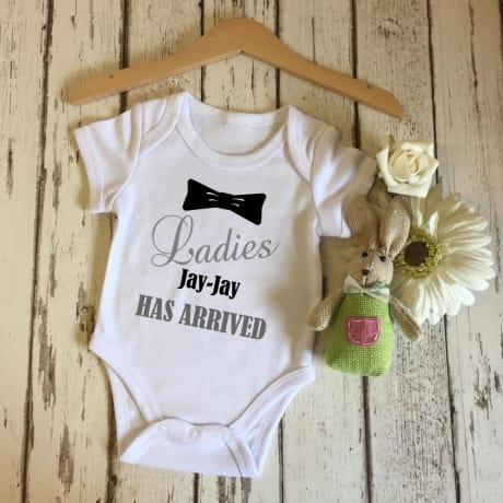 Personalised Ladies I have arrived bodysuit