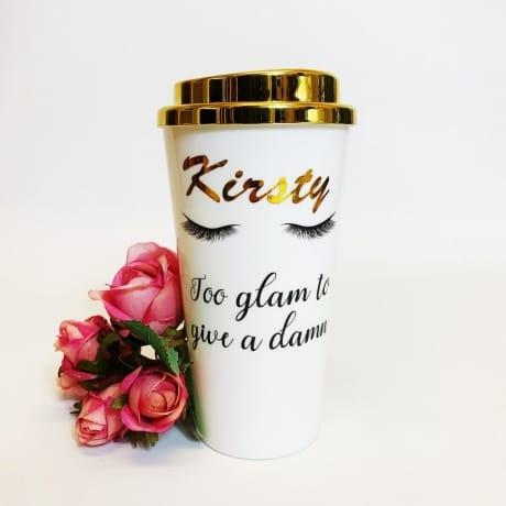 Personalised Name - Travel Mug White