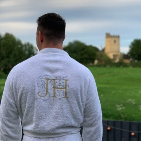 Personalised Embroidery Initials Luxury Robe - Mens