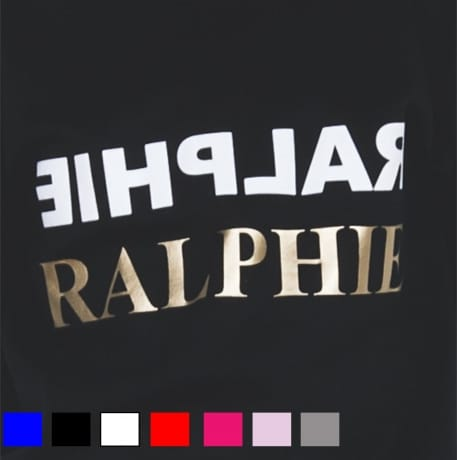 Personalised Gold text name T-shirt