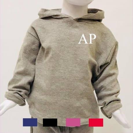 Personalised embroidery initials hoodie