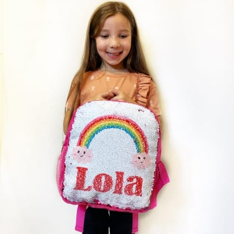 Sequin Reveal - Kids Name Back Pack