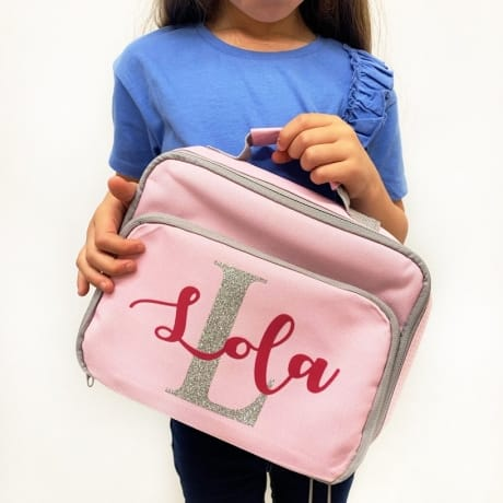 Personalised Lunch Bag - Glitter Text