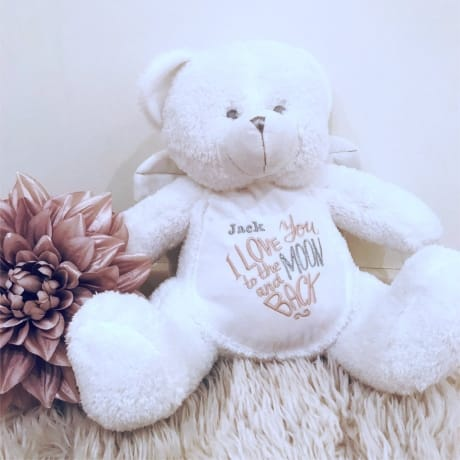Love You To The Moon & Back Personalised Teddy