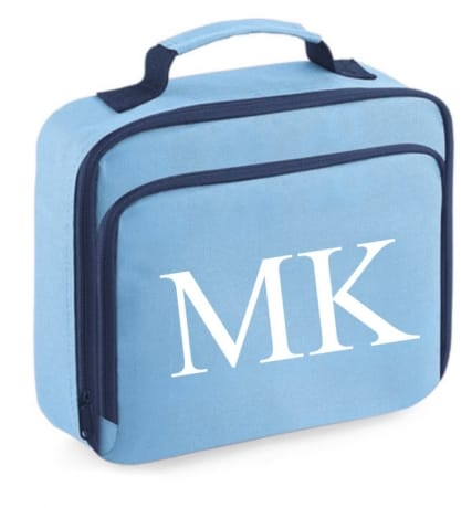 Personalised Lunch Bag Initial Blue
