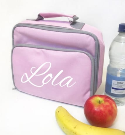 Personalised Lunch Bag - Name Pink