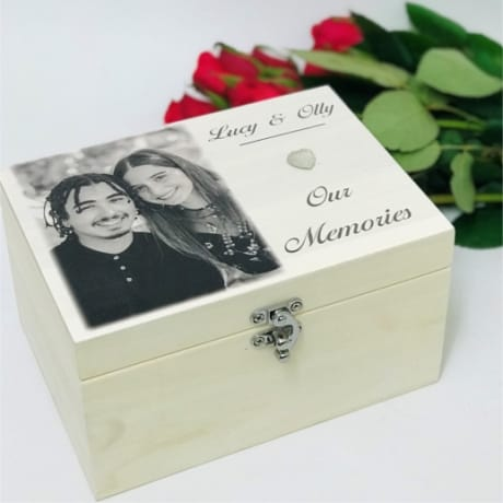 Small Personalised Wooden Keepsake Box