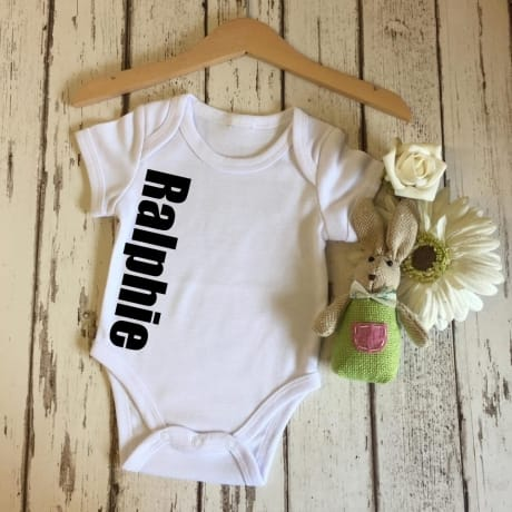 Personalised large name bodysuit