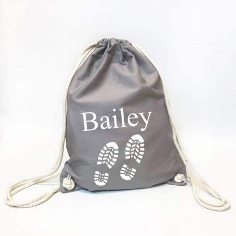 Personalised Organic Gym Bag - Footprints