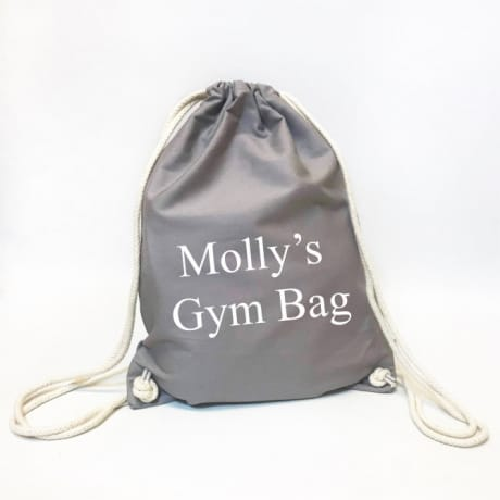 Personalised Organic Gym Bag - Name's Gym Bag