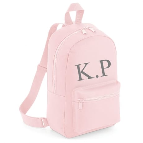 Personalised Embroidered Initials Backpack - Pink