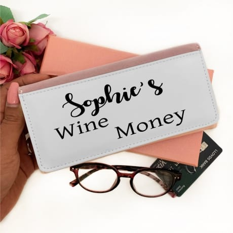 Personalised Pink Purse - Wine Money