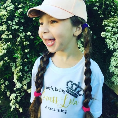 Gosh being a princess is exhausting personalised t.shirt
