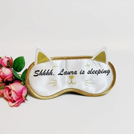 Personalised Cat Sleeping Mask Shhhh
