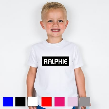 Personalised kid's name T-shirt