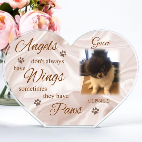 Photo Heart Block - Pet Angel