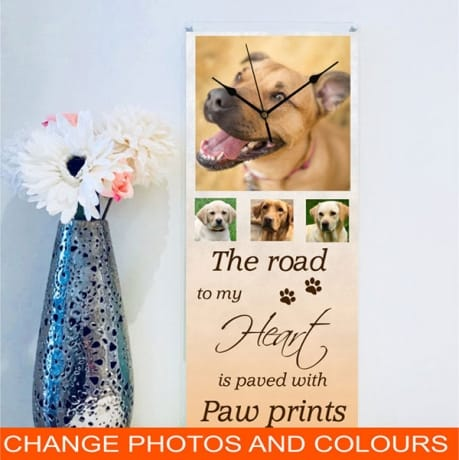 Giant pet/animal personalised photo clock