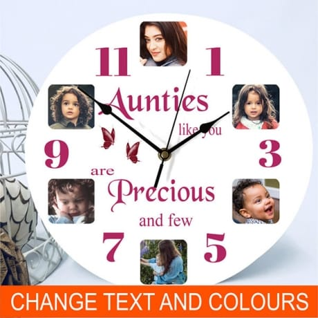 6 photo clock - Precious and few