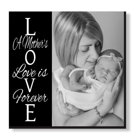 Pic N Mix photo tiles - Love is forever, text can be changed