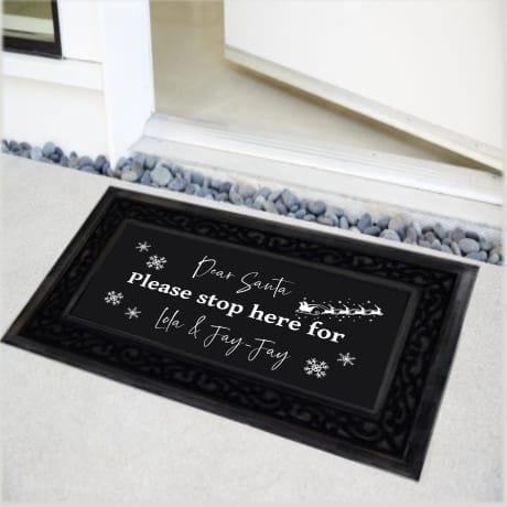 Personalised Christmas Doormat Dear Santa