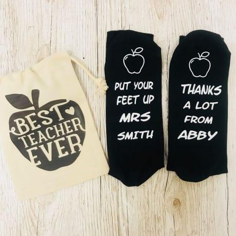 Put your feet up teacher socks