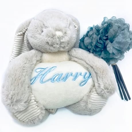 Personalised Rabbit & Blanket Gift Set