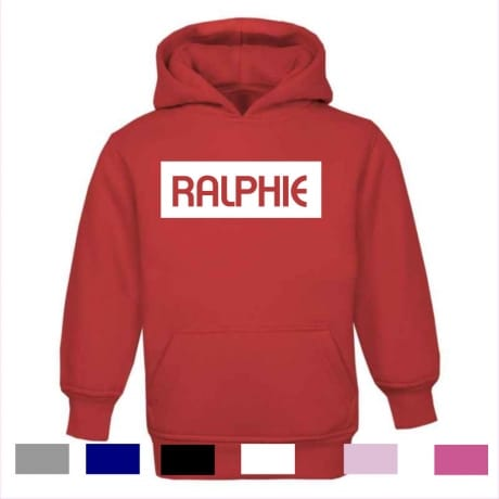 Personalised kid's name hoodie