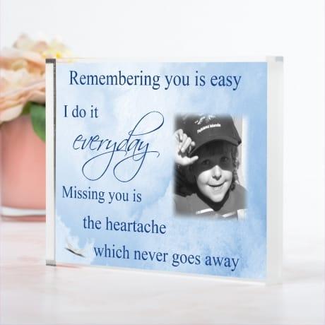 Remembering you : personalised keepsake