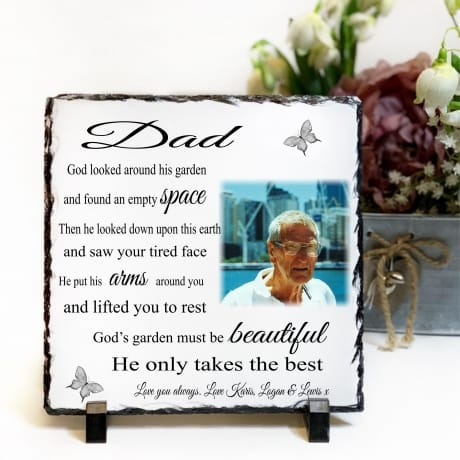 Personalised Slate : God's Garden