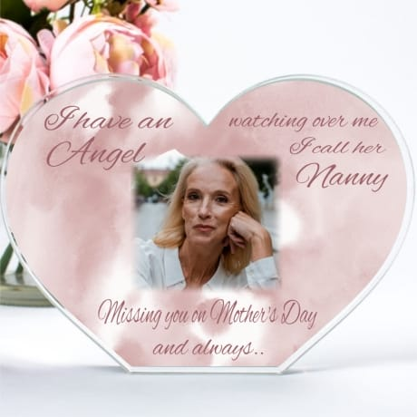 Personalised Mother's Day Angel Heart Block
