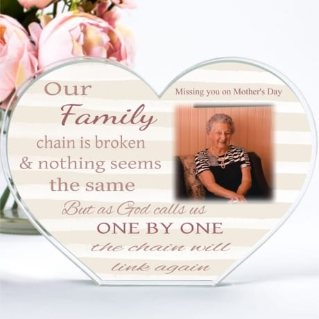 Personalised Mother's Day Family Chain Heart Block