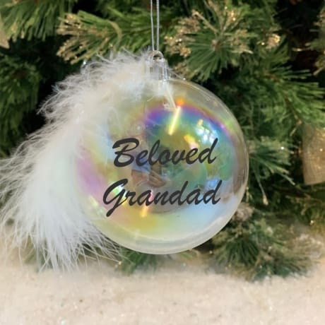Beloved - Personalised Feather Bauble