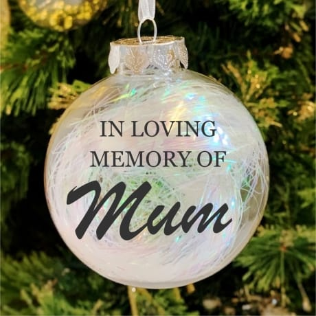 In loving memory - Personalised Bauble