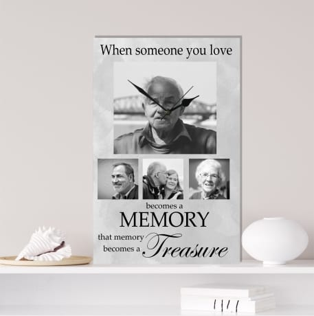 Remembrance clock, lost loved one gift