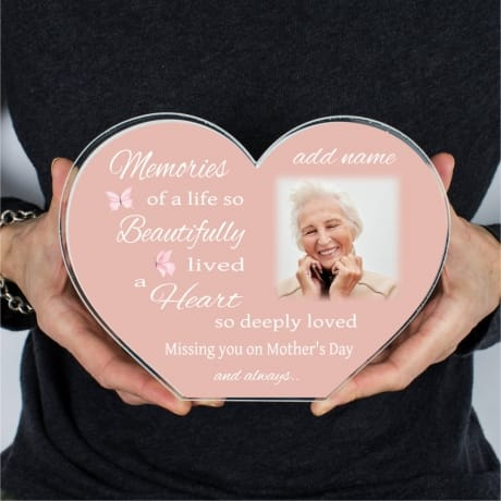 Personalised Mother's Day Memories Heart Block